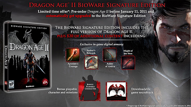 dragon age signature edition.  you will be treated with the Signature Edition which includes:
