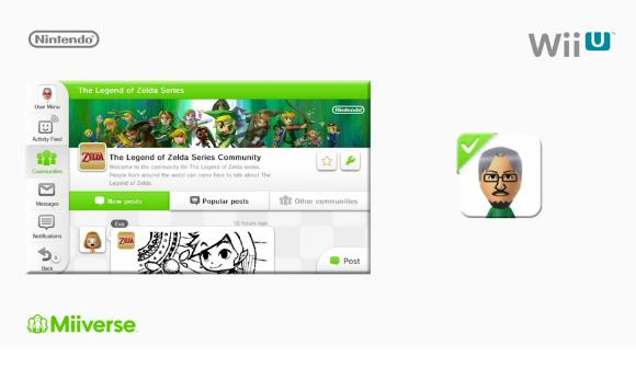 The Wii U's Miiverse is getting communities for unreleased games, specifically the recently-announced Zelda games. It's live right now.