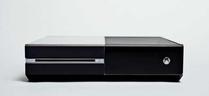 The Xbox One console, front view.