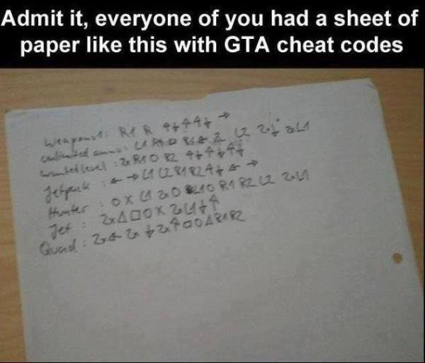 gta 4 cheats pc full list pdf