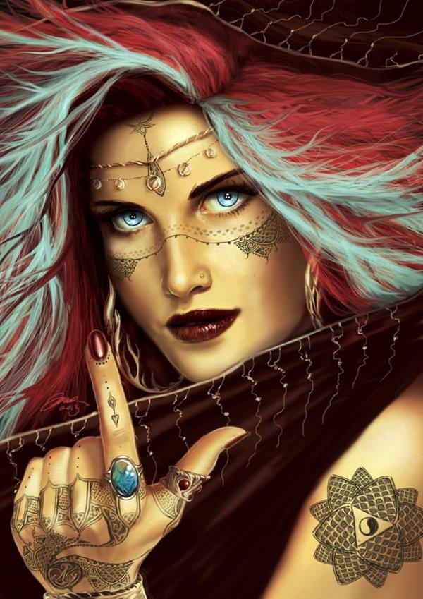 Jodie Muir's Gypsy Queen digital painting