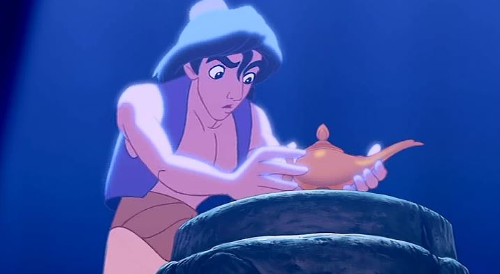 All of Aladdin was a story told by the merchant to get us ...