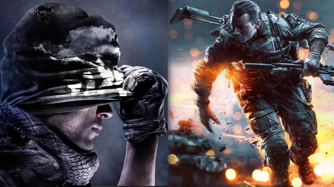 Resultado de imagen para saga call of duty vs battlefield