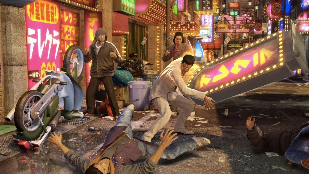 Yakuza 0 review - sign throw