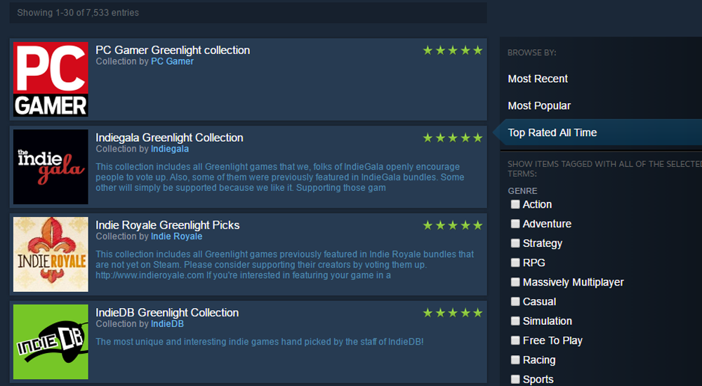 Curated collections helped Greenlight's efforts