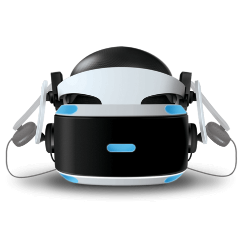 Mantis VR headphones with PSVR front