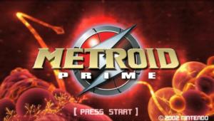 Metroid Prime Title Screen
