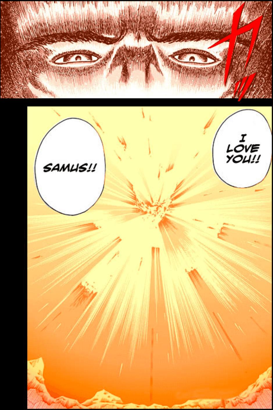 Metroid Manga Samus Father Sacrifice ultimate warrior