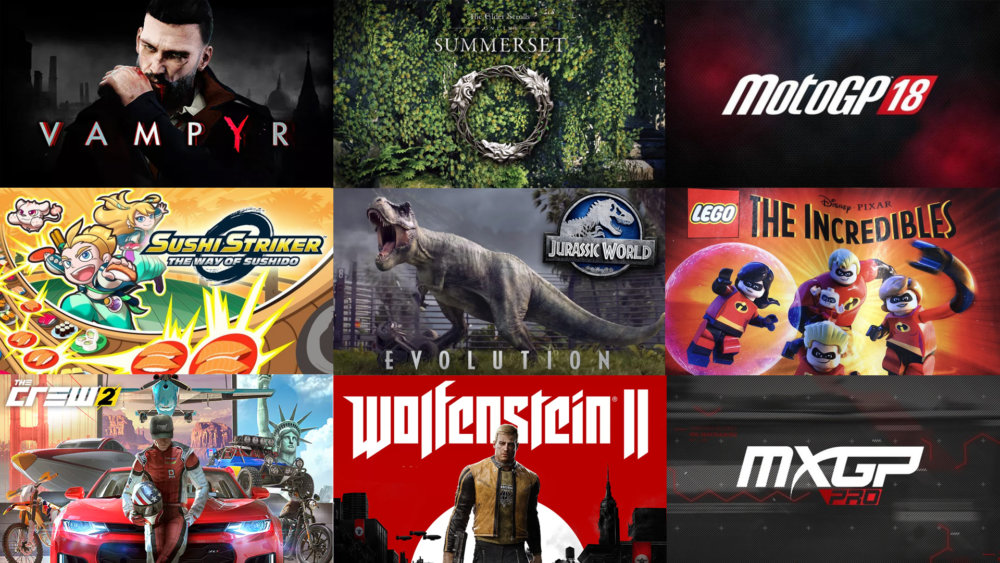 Upcoming Games June 2018